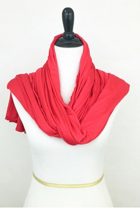Picture of Bright Watermelon Maxi Jersey Shawl