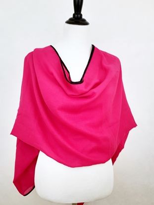Picture of Pink Shawl with Black Border