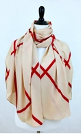 Picture of Red Beige Plaid Scarf