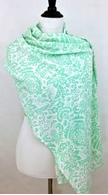 Picture of Light Green Damask Scarf