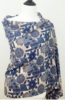 Picture of Navy Blue & Beige Print Scarf