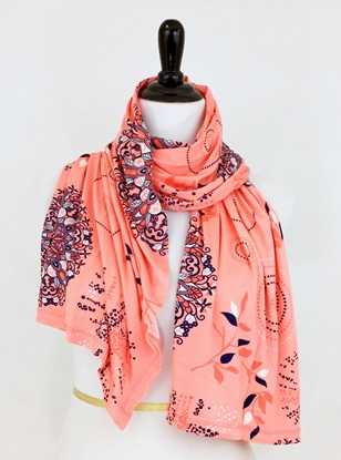 Picture of Peach  Spring Cotton Jersey Wrap