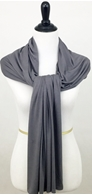 Picture of Grey Comfy Chic Cotton Jersey Wrap