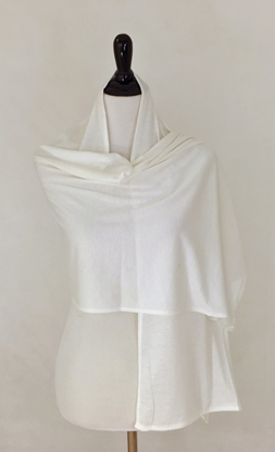 Picture of Cream White Non Stretchy Cotton Sports Wrap