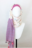 Picture of Pink Beige Polka Dots Scarf