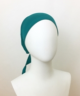 Picture of Green Teal Tie Back Bonnet - Turlu Fabric