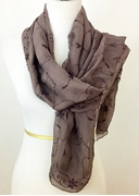 Picture of Beaded Floral Silk Georgette Scarf