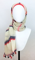 Picture of Patterned Stripes Scarf