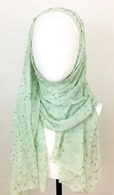 Picture of Beaded Embroidered Silk Georgette Scarf