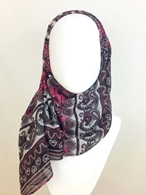 Picture of Patterned Stripes Pink & Plum Scarf