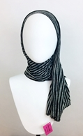 Picture of Black Grey Stripes Cotton Jersey Wrap