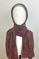 Picture of Maroon Beige Stripes Cotton Jersey Wrap