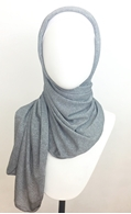 Picture of Charcoal Shimmer Jersey Wrap - Smaller Size