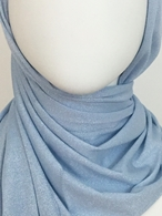 Picture of Baby Blue Shimmer Jersey Wrap