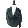 Picture of Black Solid & Lace Scarf