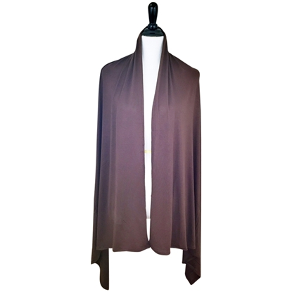 Picture of Chocolate Brown Maxi Jersey Shawl