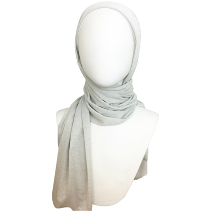 Picture of Silver Shimmer Jersey Wrap - regular size