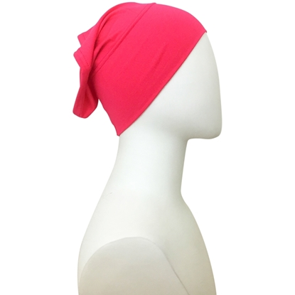 Picture of Hijab  Pinkish Watermelon Tube Undercap - Turlu Fabric