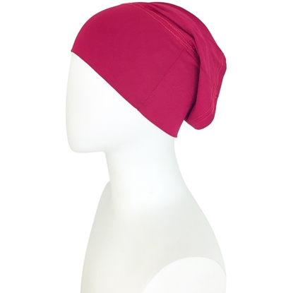 Picture of Hijab Side Seams Burgundy Tube Undercap