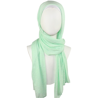 Picture of Foam Green Cotton Jersey Hijab Wrap Soft & Drapey