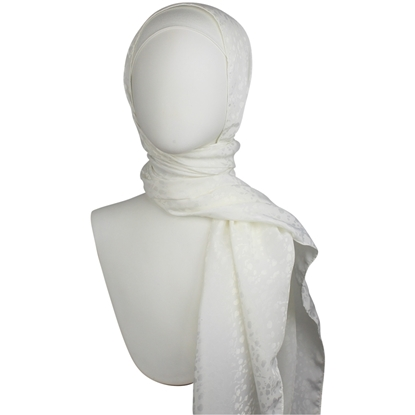 Picture of Cream White Satin Hijab