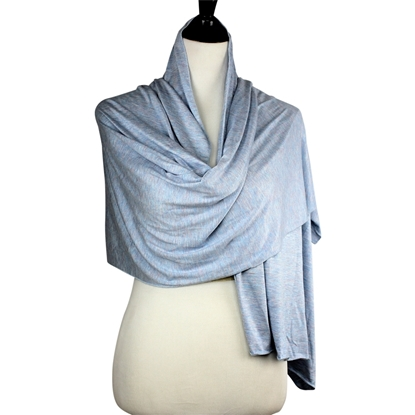 Picture of Sky-Blue Jersey Hijab Soft & Drapey  5 Subtle Tones