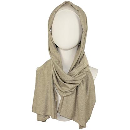 Picture of Dark Golden Bronze Shimmer Jersey Wrap