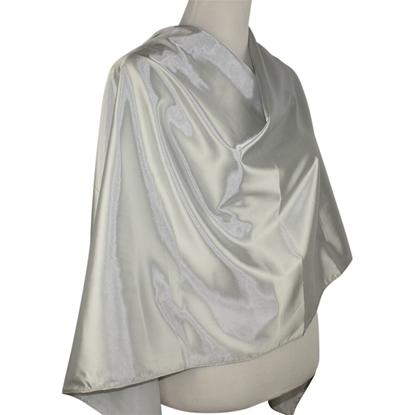Silver Satin Hijab