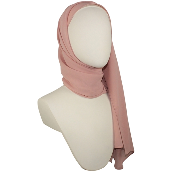 Picture of Chiffon Hijab Dusty Pink Neutral