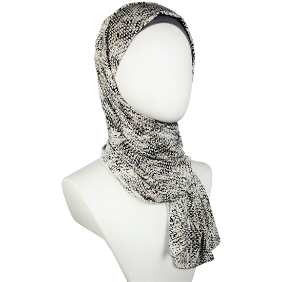 "Picture of Patterned Jersey Hijab  - Soft & Cool ""Zibde Feel"""