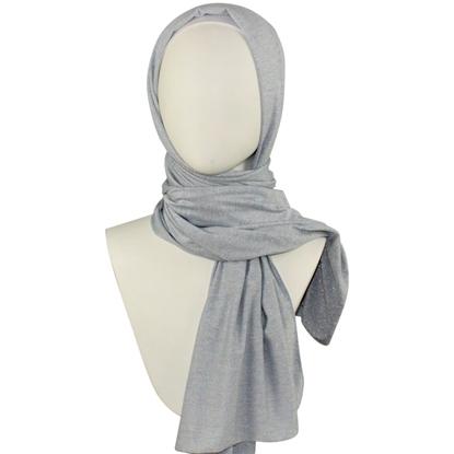 Blue Shimmer Jersey Hijab