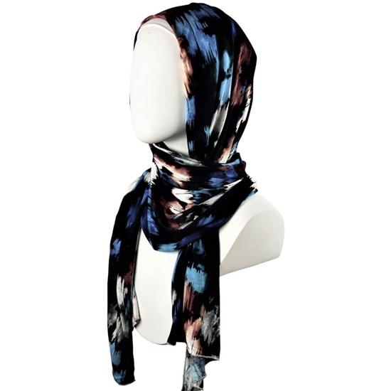 Patterned Cotton jersey hijab