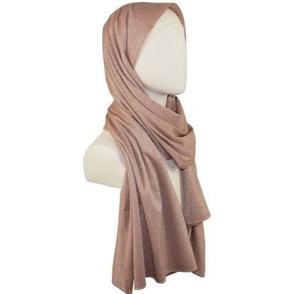 shimmer cotton jersey hijab kuwaiti