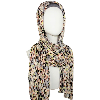 patterned jersey hijab cool and light