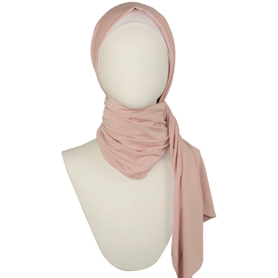 pink neutral cotton jersey hijab