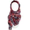 Chiffon hijab black and red