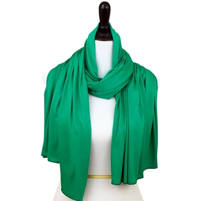 cotton jersey hijab green