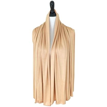 cotton jersey hijab beige