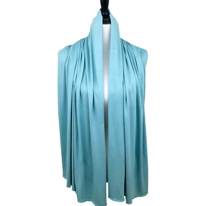 teal cotton jersey hijab