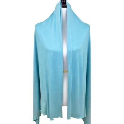 teal cotton jersey hijab