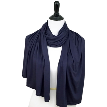 navy blue cotton jersey hijab