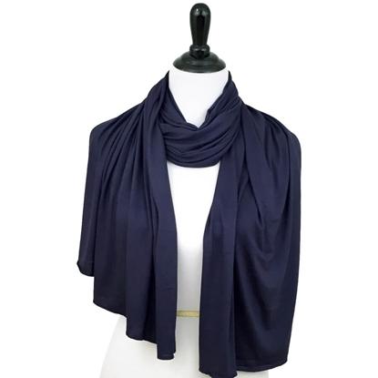 navy blue cotton jersey hijab