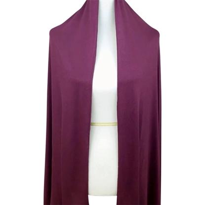 plum cotton jersey hijab