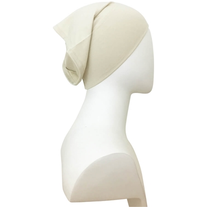 beige tube cap | hijab undercap