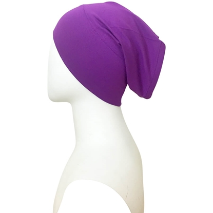 purple tube cap | hijab undercap