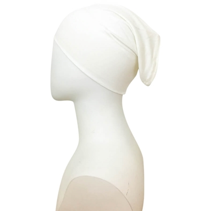 off white tube cap | hijab undercap