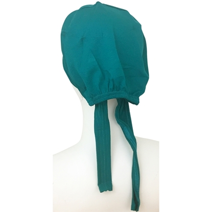 Picture of Hijab Green Teal Tie Back Bonnet - Turlu Fabric