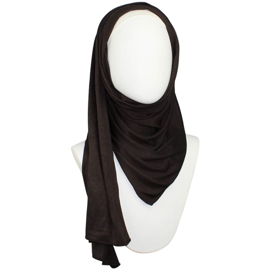 Picture of Kuwaiti Chocolate Mocha Cotton Jersey Hijab