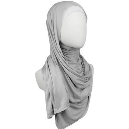 Picture of Kuwaiti Light Grey Cotton Jersey Hijab