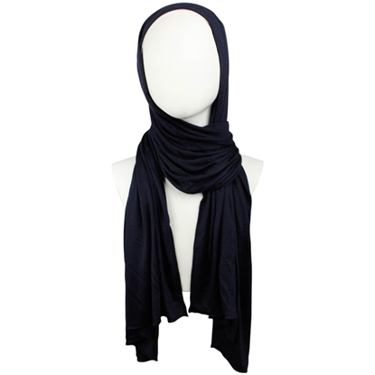 Picture of Kuwaiti Navy Blue Cotton Jersey Hijab